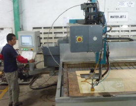 Our Facility water jet - high accuracy cutting and drilling water jet  high accuracy cutting and drilling